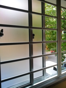 frosted sliding window
