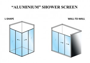 Shower Screen Aluminium