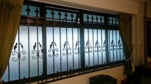anti-theft wrought iron grilles
